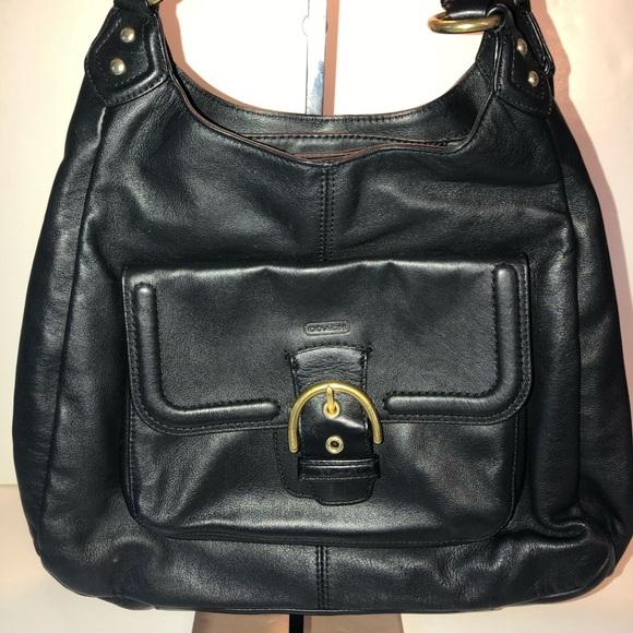 Coach Handbags - Coach Black Leather Campbell Hobo Bag